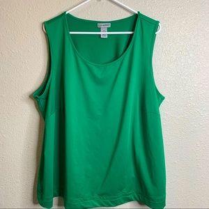 Green Sleeveless Cami 2x